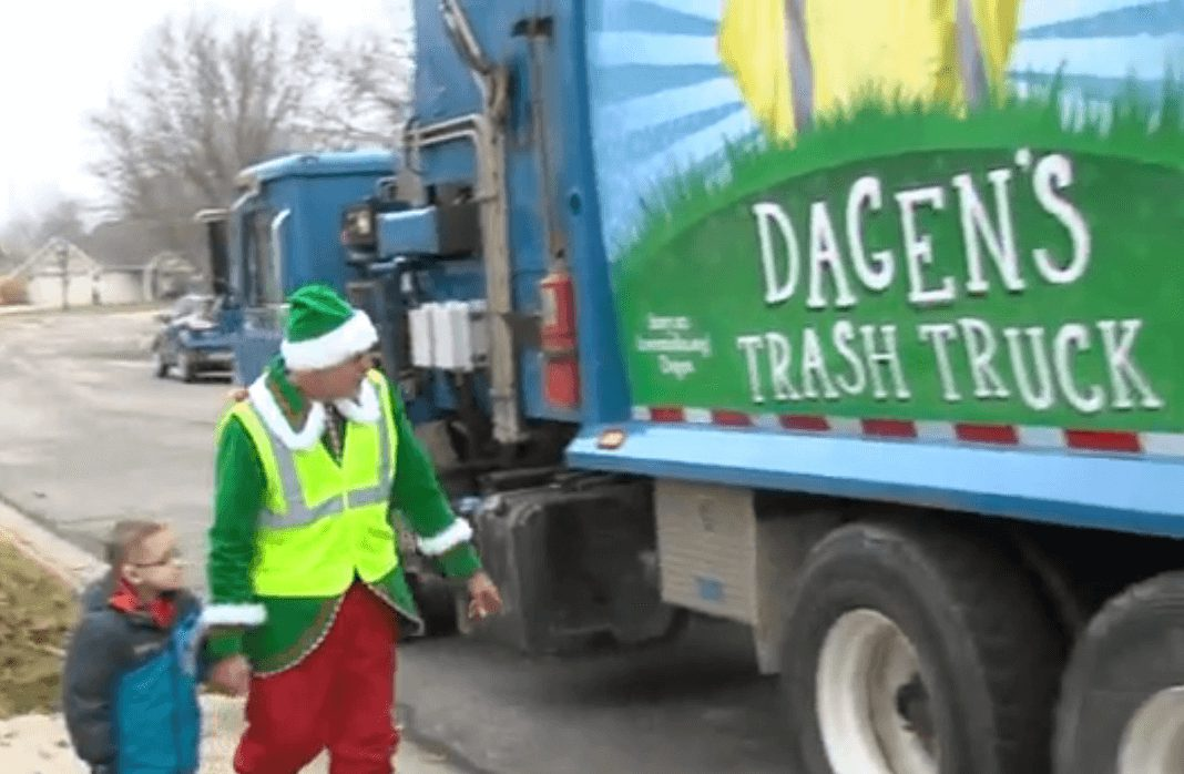 Young Cancer Patient Fulfills Dream Of Riding In Garbage Truck