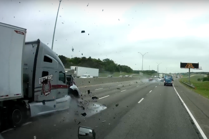 VIDEO- Wrong way motorist causes horrible head on crash with semi truck