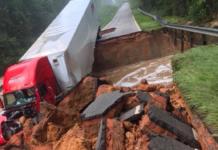 Bridge Collapses Under Truck