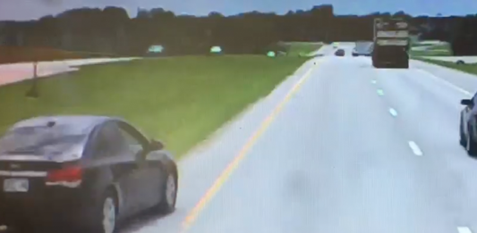 Troopers share trucker's eye view of motorist's mad move